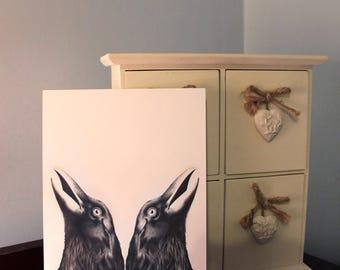Ink Crow A5 Card Print