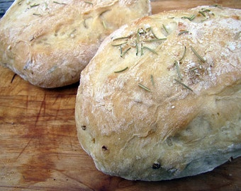 Rosemary & Roasted Garlic Bread, Artisan Bread, Homemade Bread, Bread, Loaf Bread, Dinner Bread