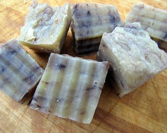 Guest Bath/Travel Rustic Farmstead Soap Cubes, Homemade Soap