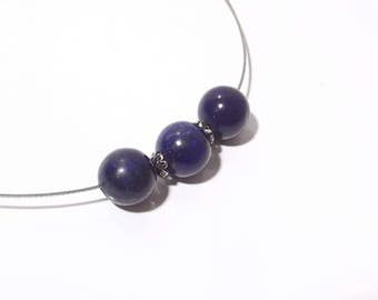 Exclusive, elegant chain necklace with lapis lazuli and 925 - he silver