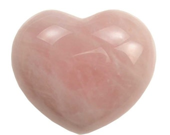 Rose Quartz Heart ~1 3/4""