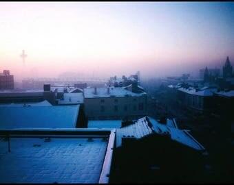Liverpool Winter City Skyline 1980 © gary lornie photography.