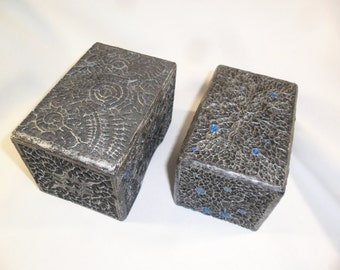 Magic the Gathering Hand made Deck Box Silver-Royal Tempra-Structure by Saturian Khazard, MtG, Jewelry Box