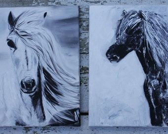 Black Abstract Horse