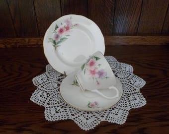 Duchess Bone China Pastel Floral Tea Cup Trio
