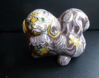 Faberge Cloisonne Pekingese Puppy