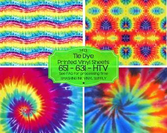 Tie Dye Vinyl Pattern/Printed Heat Transfer Vinyl/Patterned Vinyl/Printed 651 Vinyl/Printed 631 Vinyl/Printed Outdoor Vinyl/Printed HTV