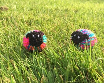 Rainbow/Pride Knitted Sheep.
