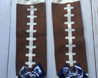 Dallas cowboys leg warmers, toddler leg warmers, baby leg warmers