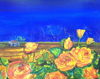 Painting Artwork Original: 'Outback Rose'