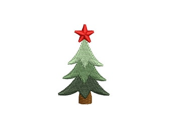 Mini Christmas Tree Machine Embroidery Design. 3 sizes. Instant download