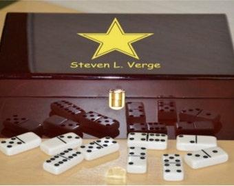 Customizable Double 12 Piano Finish Wooden Box