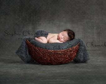 digital backdrop  background newborn baby girl boy  vintage dark gray