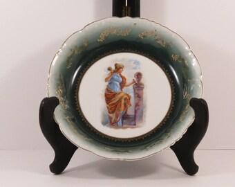 Vintage Merkelsgrun Bohemia Austria Porcelain Portrait Plate/Bowl