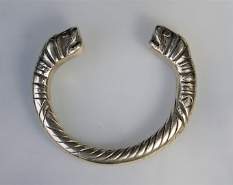 Antique Makara Silver Bracelet Bangle from India
