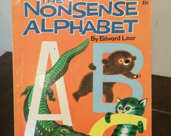 The Nonsense Alphabet by Edward Lear 1959  Vintage  Childrens Wonder Book