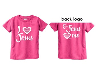 Jesus Loves Me Shirts Christian T Shirts for Baby Girl Clothes Christian Shirts Gifts for Girls Easter Gifts for Baby Cute Shirts For Baby