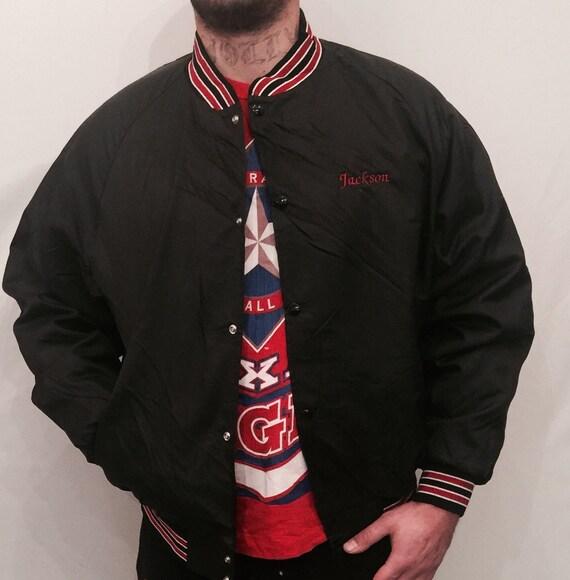 EV 111 Black baseball jacket for men 80ties