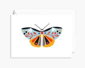 Blue Butterfly Folk  | Illustrated Greeting Card