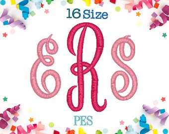 16 Sizes Master Circle Monogram Embroidery Font PES,Empress Monogram,Embroidery Machine,Embroidery Font,Monogram Font,Monogram Initials
