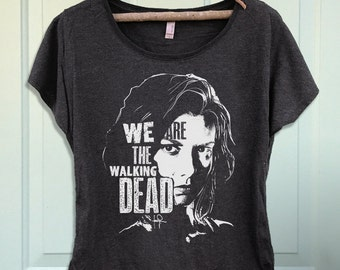 We Are the Walking Dead Maggie Women's Dolman Scoop Graphic T-shirt- Shirt-Tee-TWD RIP