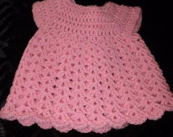 Crocheted Dolls Dresses 12 inch