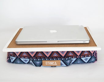 Laptop Tray With Cushion/ Laptop Desk / Serving Tray /  Laptop Table For Bed / Laptop Tray For Apple / Ergonomic Lap Desk / IPad Table