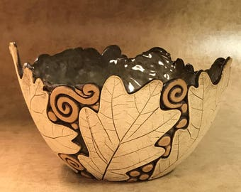 Large Oak Leaf Bowl 29