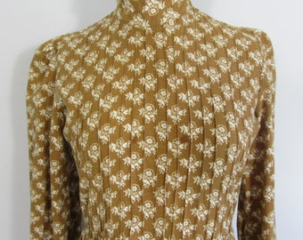 1970s LAURA ASHLEY Made in Wales Floral Dress- Uk 10 Hippy, Prairie, Boho, Edwardian, Victorian