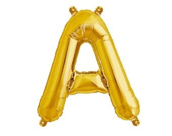 Letter Balloons, Custom Banner, Party Balloons, Name Balloons, Gold Balloon Letters, Custom Name Balloon