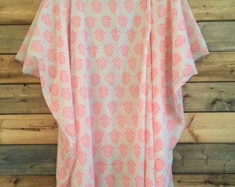 Neon Coral Cover Up