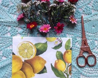 Handmade Lemon Envelope  #3