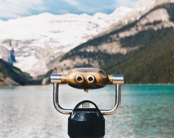 Canada, Lake Louise, Banff National Park, Binoculars, Nature, Print, Fine Art, Wall Art, Alberta, Canadian Rockies, Nature Photography