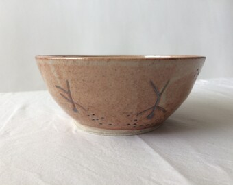 Dreamer Yogi Bowl | Carved Yoga Positions | Brown Organic Vegan Dish | Handmade Ceramics and Pottery | Smoothie Bowl | Wide Top Fruit Bowl