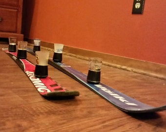 3-person Shotski with removable shot glasses for easy cleaning