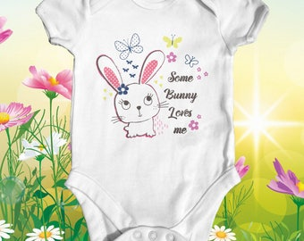 Some Bunny Loves Me Baby Bodysuit | Animal Baby Clothes | Baby Shower Gift | Funny Baby Bodysuit | Take Home Outfit | Cute Baby Bodysuit