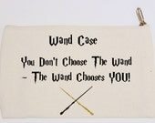Harry Potter Pencil Case Wand Case Canvas Pencil Case Flat Cosmetic Bag  Magic Fan Wizard Quote Birthday Gift for Him or Her