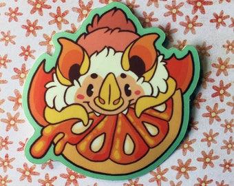 Honduran White Bat - Vinyl Sticker