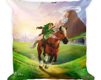The Legend of Zelda: Ocarina of Time Link Epona Pillow