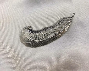 Vintage Sterling Silver Ink Quill Brooch