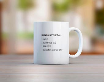 Morning Instructions Mug