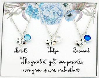 Unique gifts for sisters Personalized sister Gifts for Sister necklaces for 3 Sisters gift Sister birthday Sister jewelry Best sister ever