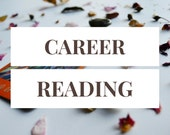 Career Reading -- 1 Card Tarot Reading -- Photo of Spread Included