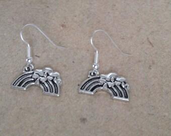 Rainbow earrings silver