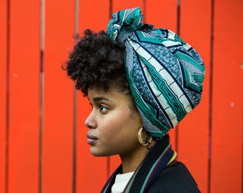 MY TRIBE headwrap 'Blue Bamboo'