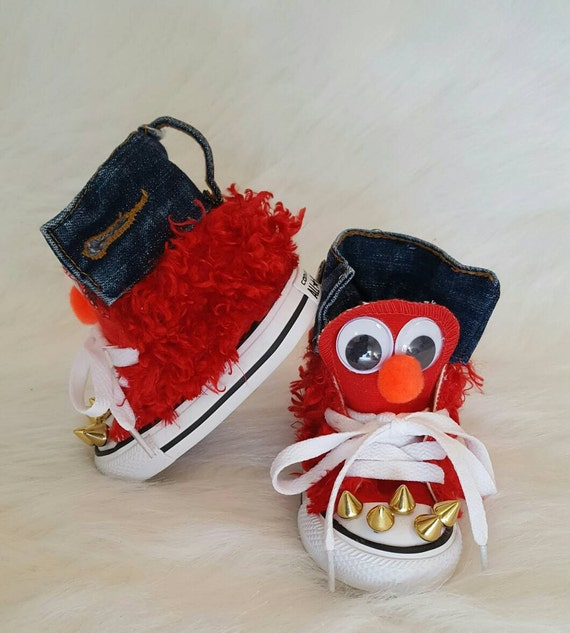 Elmo Theme Converse, Birthday Shoes, Unique Shoes, Theme Converse, FAST TURNAROUND!!