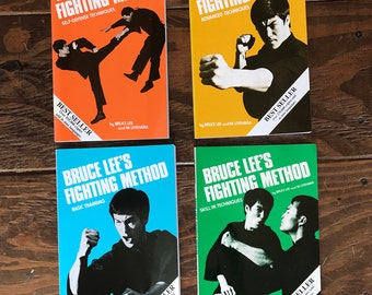 Vintage Bruce Lee Fighting Method Book Set, Vintage Martial Arts Books, Limted Edition Bruce Lee Books, Vintage 1970s Martial Arts Training