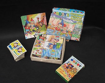 Vintage Noddy Games - Happy Families, Dominos and Block Puzzle