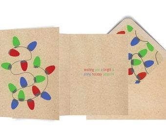 String Lights Holiday Card