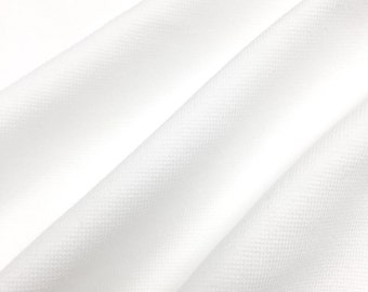 Stretchy Ponte de Roma Fabric (Wholesale Price Available By The Bolt) USA Made Premium Quality - 7250 White - 1 Yard
